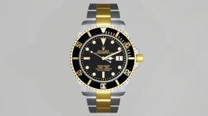 rolex submariner date watch 3D model