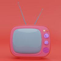 Retro TV receiver television cartoon production subdiv ready