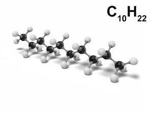 decane molecule c10h22 modeled model