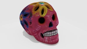 scanned mexican calavera skull 3D