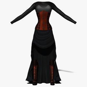 3D model steampunk costume