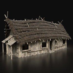 3D gen aaa medieval wooden