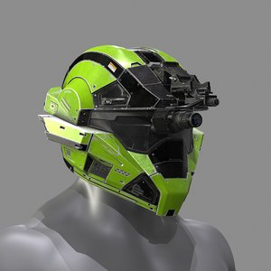 helmet halo 3D
