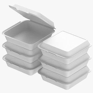 3D cardboard box set model