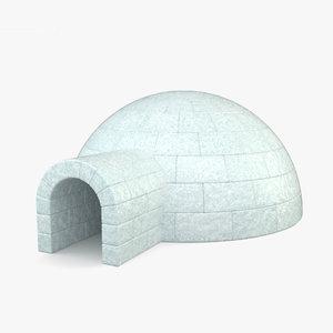 3D model igloo shelter building