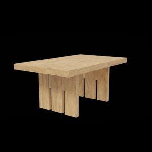 3D furniture table furnishing