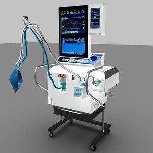 3D model medical ventilator