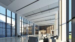office lobby 3D model