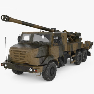 caesar self-propelled howitzer 3D