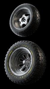 3D tires rim wheels
