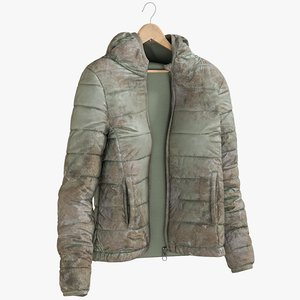 3D model realistic women s jacket