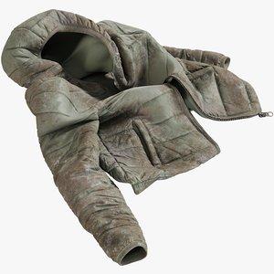 3D realistic women s jacket