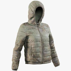 realistic women s jacket model