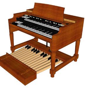 hammond organ b3 3D model
