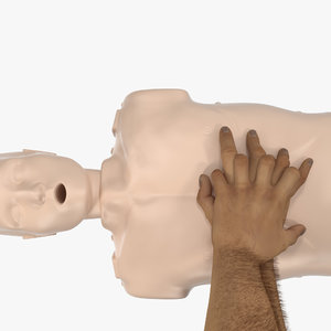 aid training cpr dummy 3D model