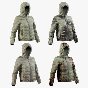 3D realistic women s jacket