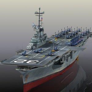 3D model uss leyte cv-32 cvs