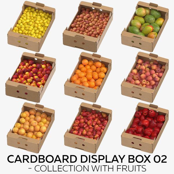 3D model cardboard display box 02
