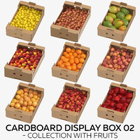 Cardboard Display Box 02 - Collection with Fruits