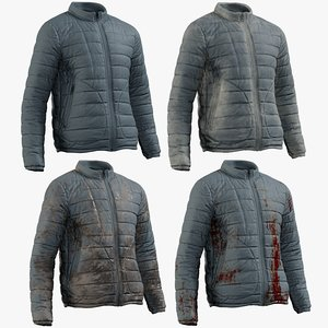 3D model realistic men s jacket