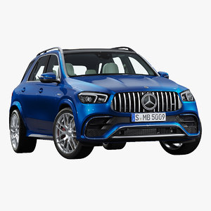 3D 2021 mercedes benz gle63 model