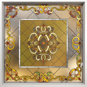 geometric stained glass 3D