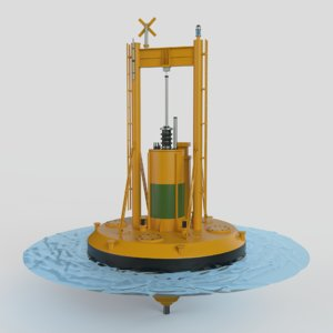 3D wave power station
