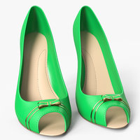 High Heels Women's Shoes Green