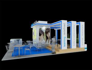 berjaya exhibition booth: model