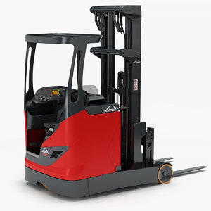 electric rich truck forklift 3D model