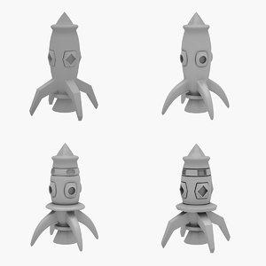 3D rocket model