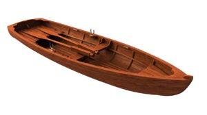 3D model realistic boat