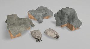 bags tents 3D model