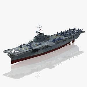 uss leyte cv-32 cvs 3D model