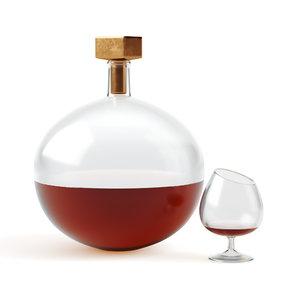 3D model decorative decanter glass cognac
