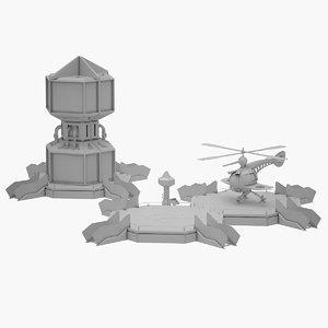 3D sci-fi runway avatar