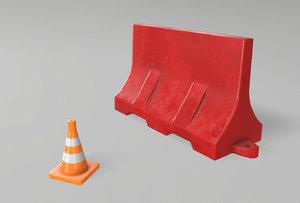 3D road props model