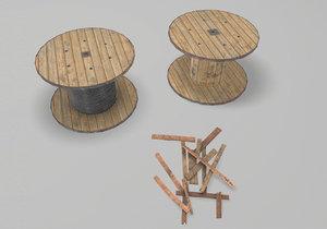 3D cable reels model