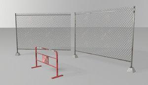 3D fences pbr metalness