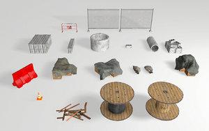 props sets 3D model