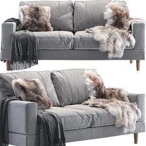 pohjanmaan capri sofa fur 3D model