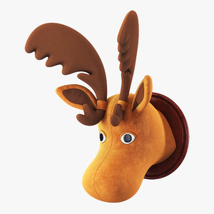 fabric moose head trophy 3D model