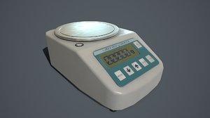 3D pbr laboratory balance