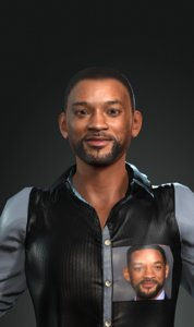 3D character design actor smith model