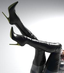 3D heels boots model