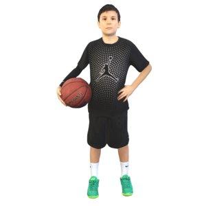 3D model basket basketball ball