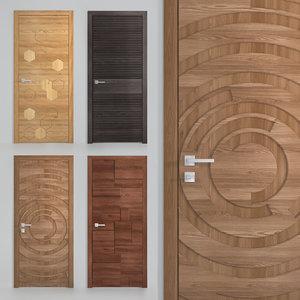 3D set interior doors dorian
