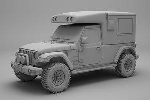 3D jeep wrangler camper