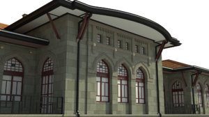 3D parliament building turkey model