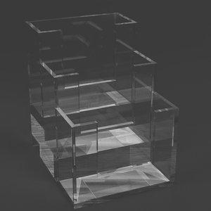 3D acrylic counter display model